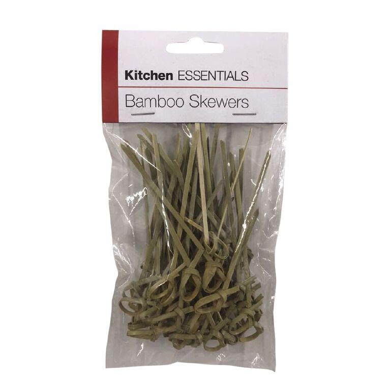 Kitchen Essentials Bamboo Skewers 50 Pack 9cm, , hi-res
