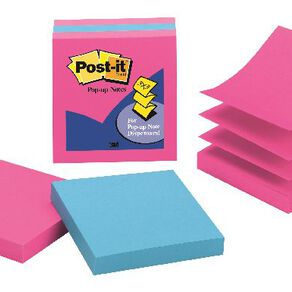 Post-It Pop-Up Notes 76mm x 76mm Jaipur Collection 3 Pack Blue
