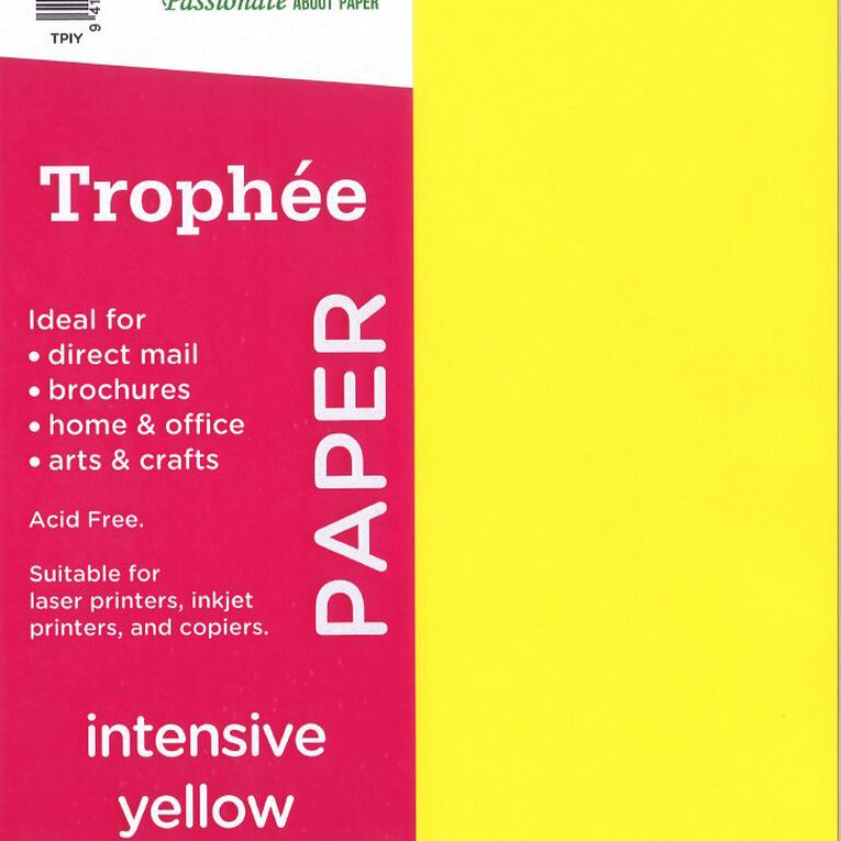 Trophee Paper 80gsm 30 Pack Intensive Yellow A4, , hi-res