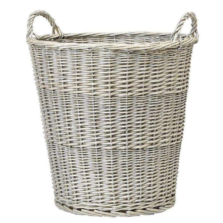 Living & Co Round Wicker Basket Natural Medium, , hi-res
