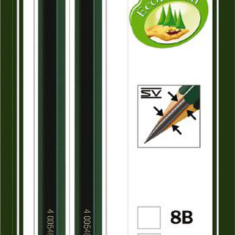 Faber-Castell Drawing Pencil 9000 2B HB 2 Pack, , hi-res