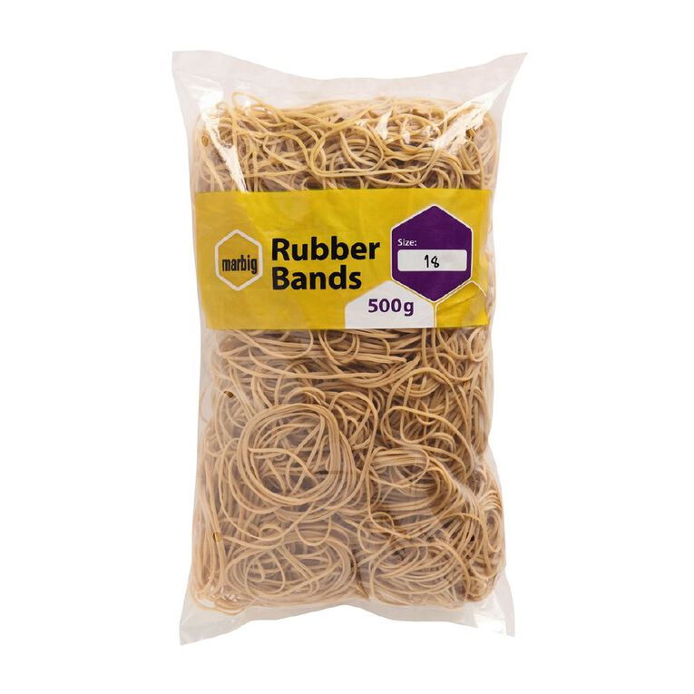 Marbig Rubber Bands 500g #18 Brown, , hi-res