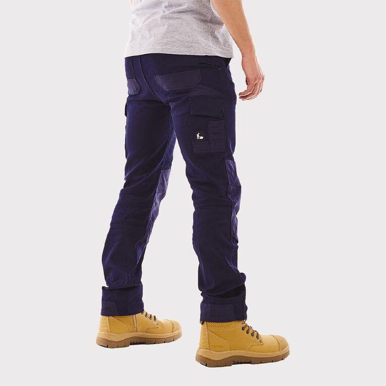 Tradie Men's Slim Fit Flex Cargo Pants, Navy, hi-res