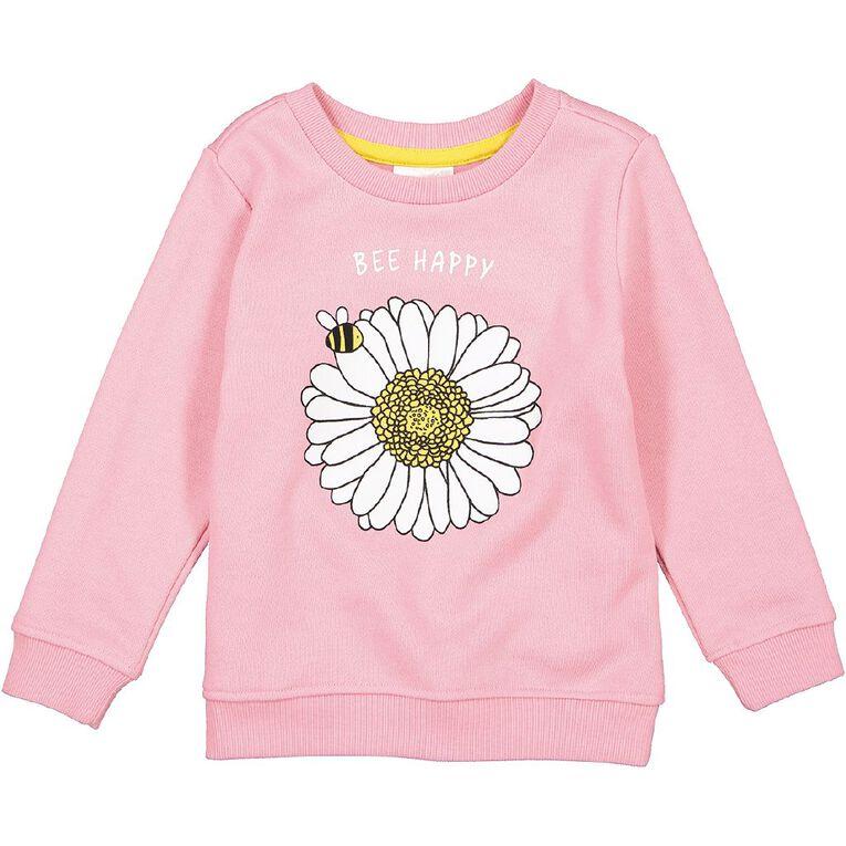 Young Original Toddler Crew Neck Printed Sweatshirt, Pink Light, hi-res