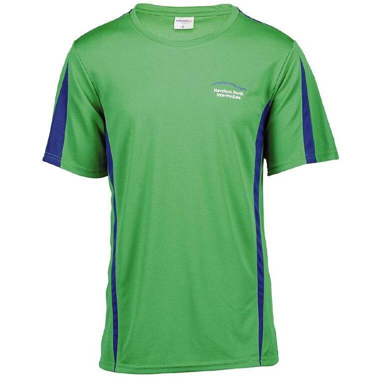 Schooltex Havelock North Intermediate PE Tee with Embroidery, Green, hi-res