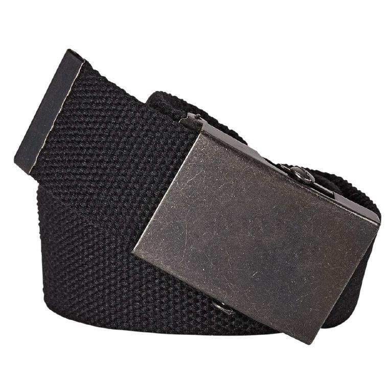H&H Men's Web Belt, Black, hi-res image number null