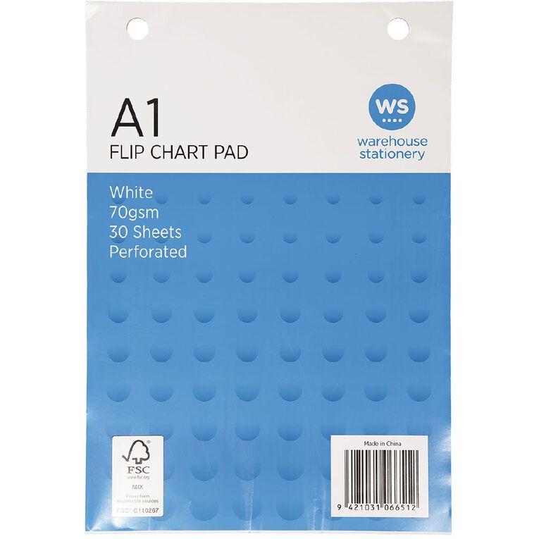 WS Flip Chart Fsc 30 Sheet 70gsm White A1, , hi-res