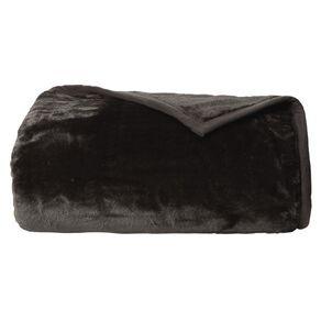 Living & Co Blanket Mink Feel 400gsm Charcoal Queen