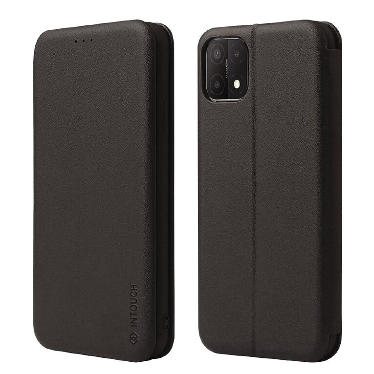 INTOUCH OPPO A15 Milano Wallet Case Black, , hi-res