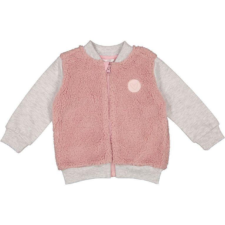 Young Original Baby Sherpa Bomber Jacket, Pink Light, hi-res