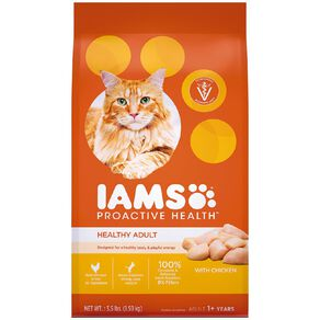 Iams Proactive Health Adult Dry Cat Food with Chicken 1.59kg Bag