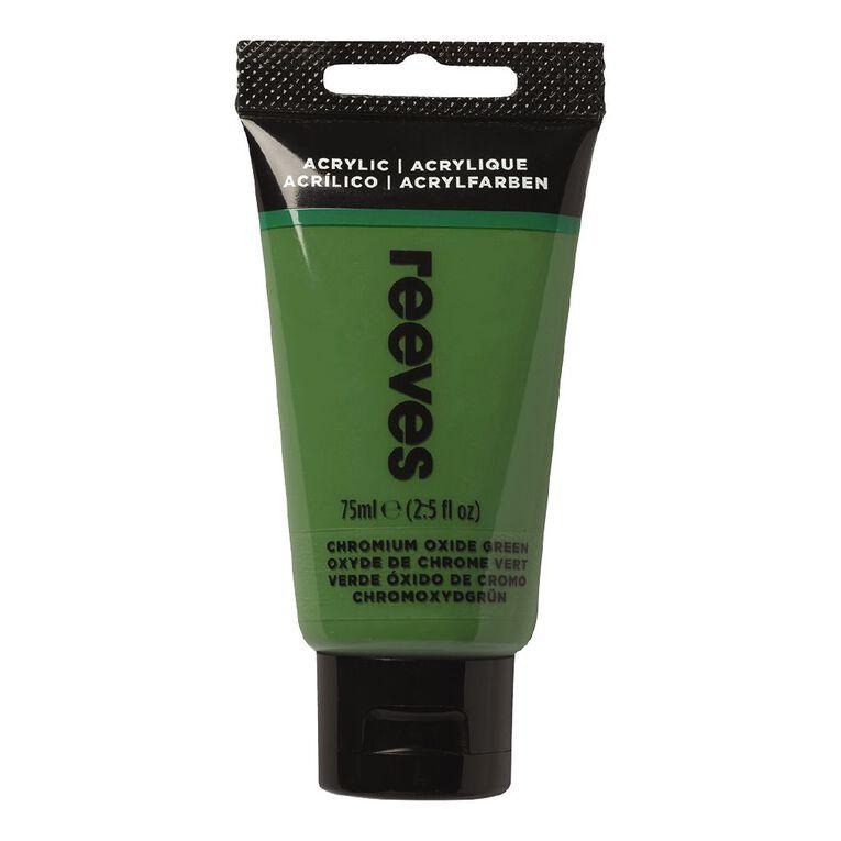 Reeves Fine Acrylic 75ml Oxide Chromium Green 460 75ml, , hi-res