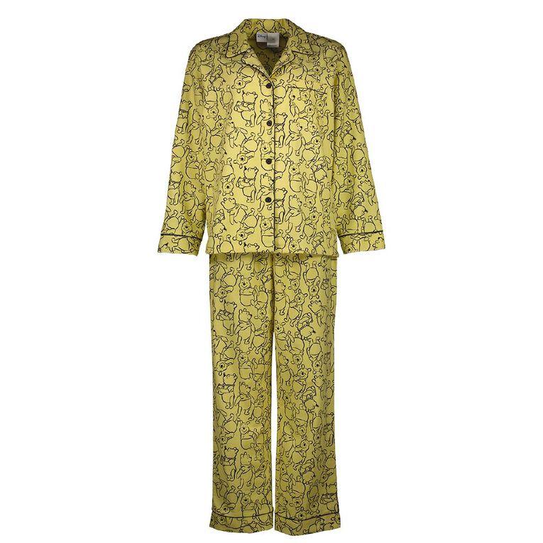 Winnie the Pooh Disney Women's Flannelette Pyjama Set, Yellow, hi-res