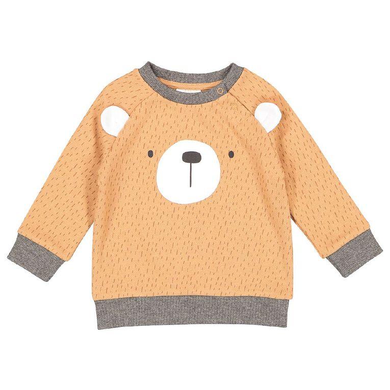Young Original Baby Novelty Sweatshirt, Orange Light, hi-res