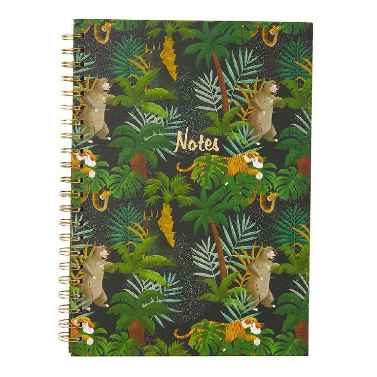 Disney Jungle Book Hardcover Spiral Notebook Green A4, , hi-res