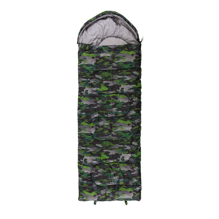 Navigator South Camo Green Kids Sleeping Bag, , hi-res