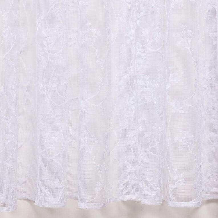 Living & Co Camille Net White 150cm x 120cm Drop, White, hi-res