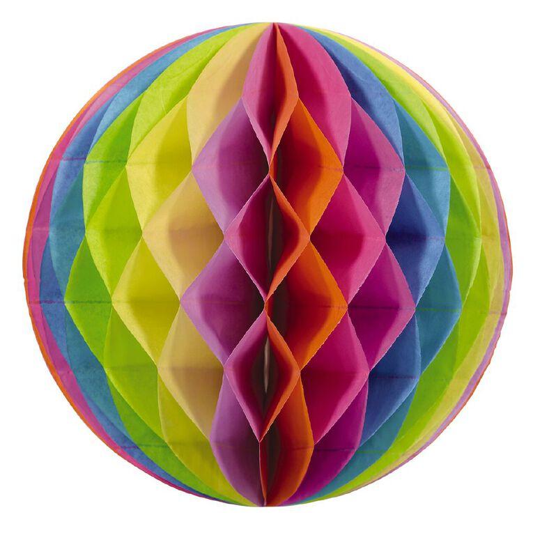 Party Inc Honeycomb Lantern Rainbow 30cm, , hi-res