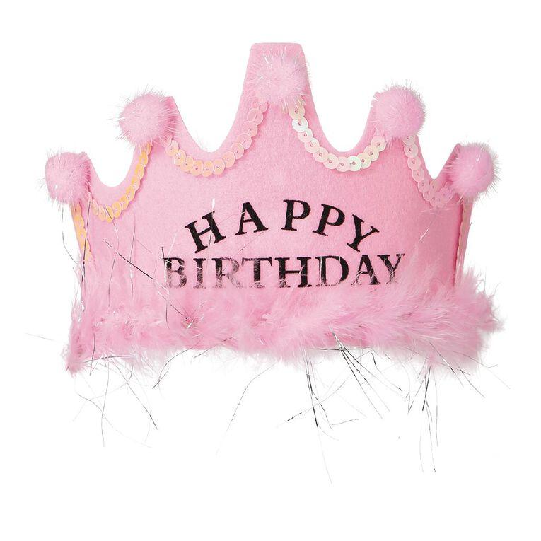 Party Inc Happy Birthday Headband Pink, , hi-res