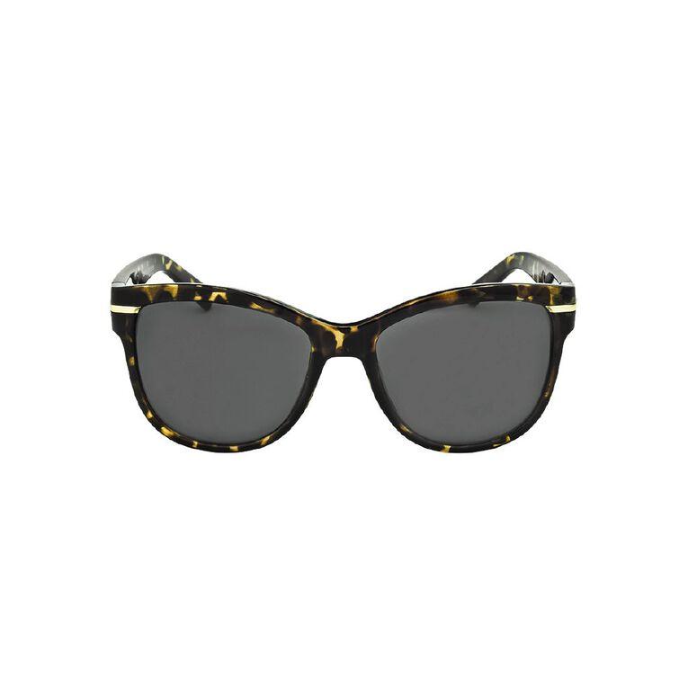 H&H Women's Gold Trim Tortoiseshell Sunglasses, Gold, hi-res