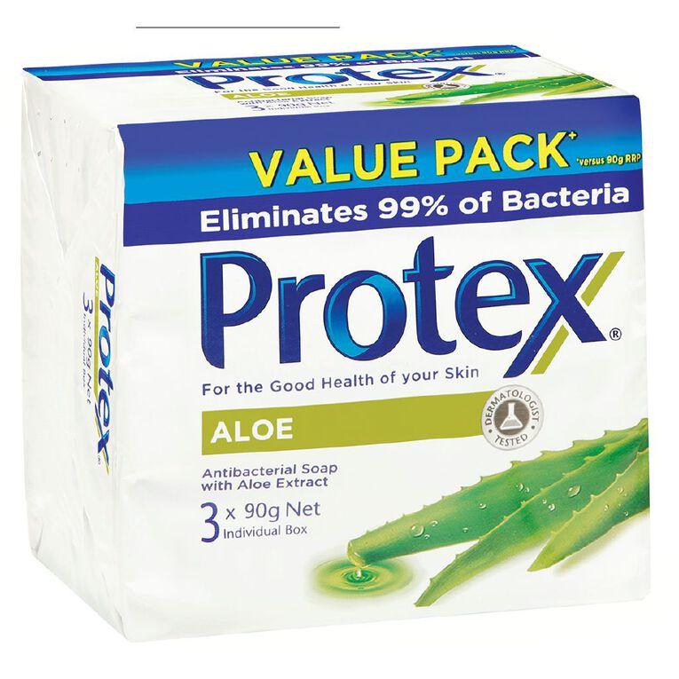 Protex Aloe Bar Soap 90g 3 Pack, , hi-res