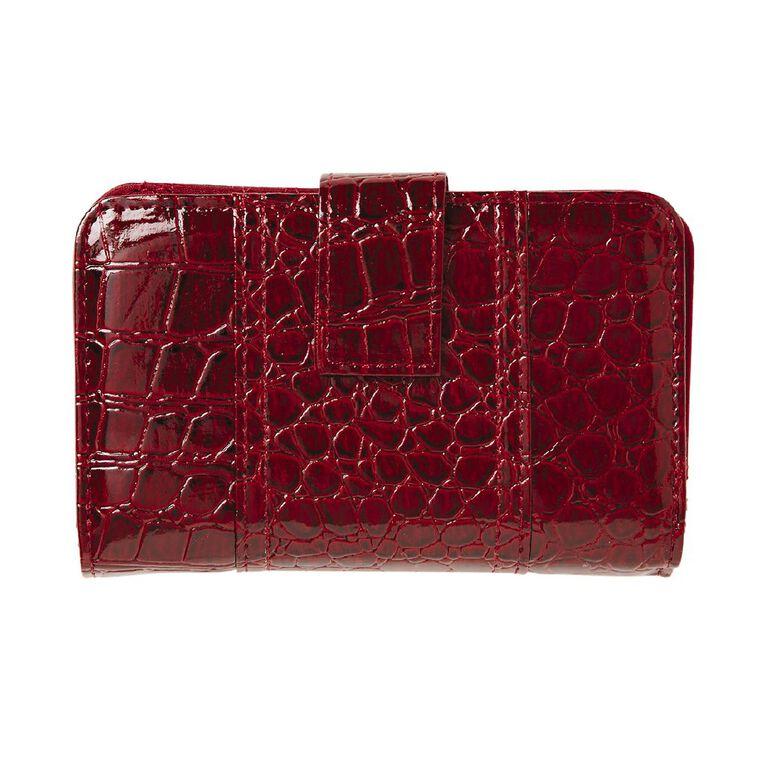 H&H Croc Vogue Tab Purse, Red, hi-res