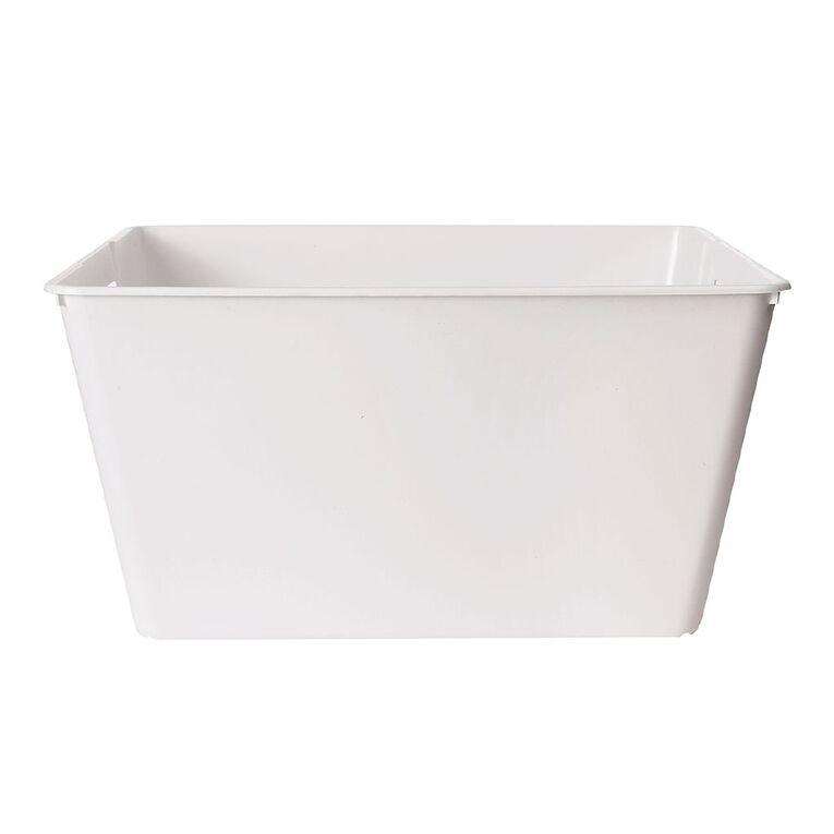 Living & Co Stackable Tub Rectangular White 30L, , hi-res