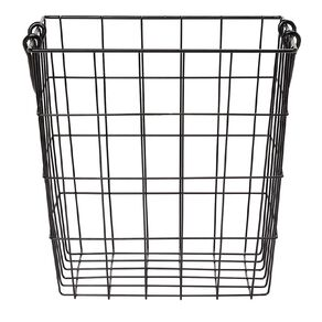 Living & Co Wire Basket with Handles Black