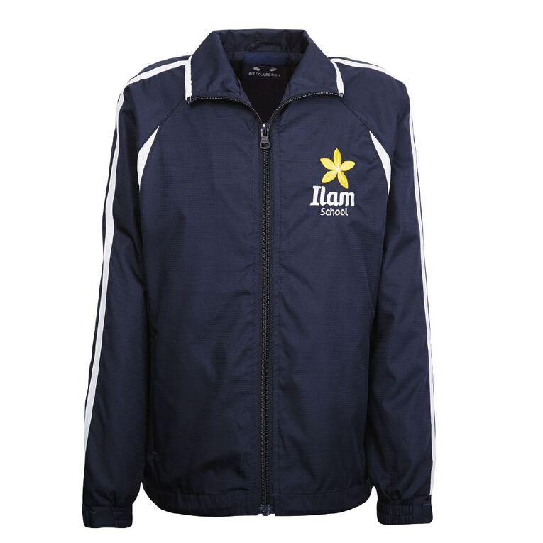 Schooltex Ilam Track Jacket, Navy/White, hi-res