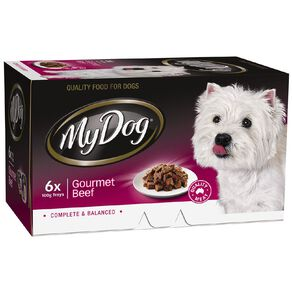My Dog Wet Dog Food Gourmet Beef Meaty Loaf 6 x 100g Trays 6 Pack