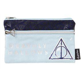 Harry Potter Double Zip Pencil Case Blue Light