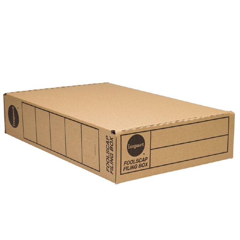Impact Storage Box Foolscap Kraft, , hi-res