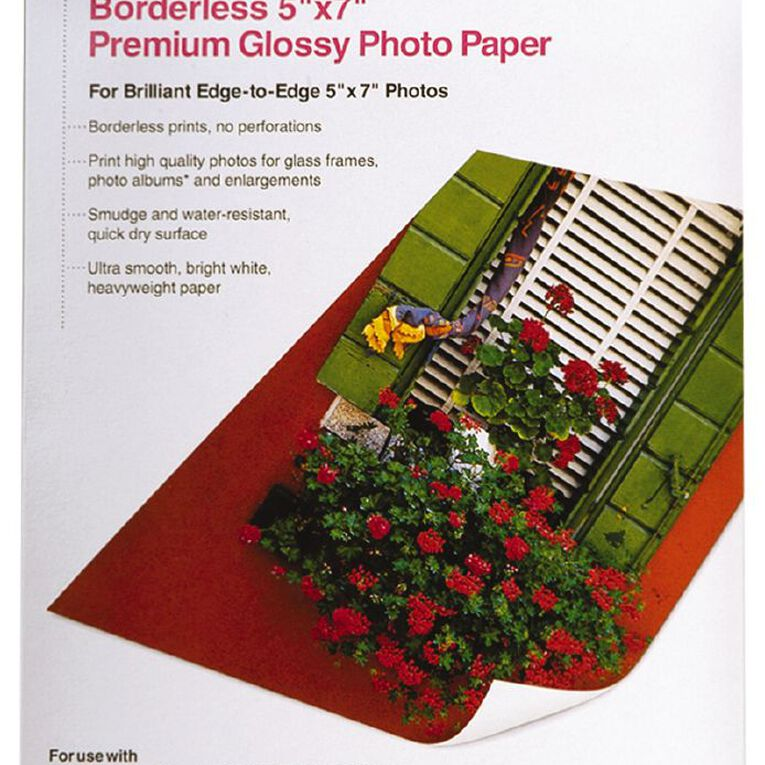 Epson Photo Paper S041464 Glossy 255gsm 5 x 7 20 Pack, , hi-res