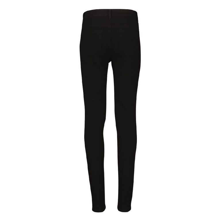 Young Original Girls' Stretch Skinny Jeans, Black, hi-res image number null