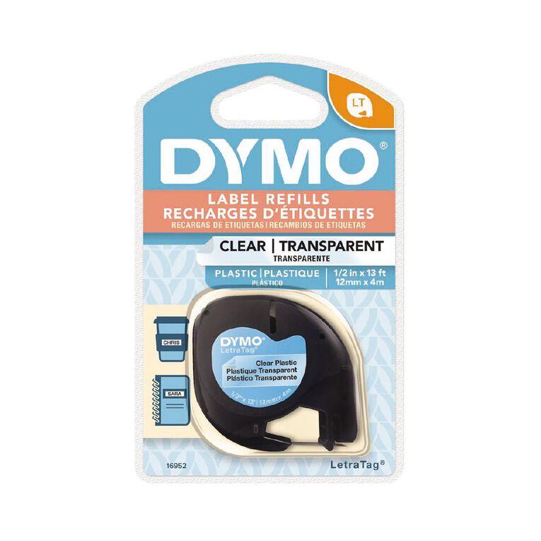 Dymo Label Tape Plastic 12mm x 4m, , hi-res