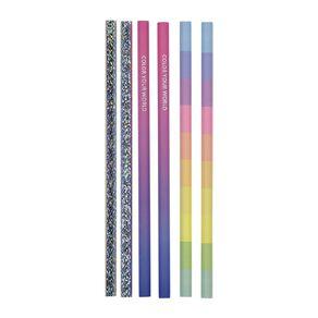 Kookie Novelty Pencils 6 Pack Rainbow Multi-Coloured