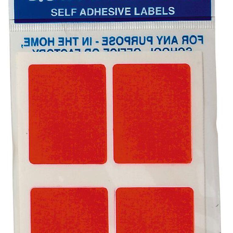 Quik Stik Labels Mr3545 28 Pack Fluoro Red, , hi-res
