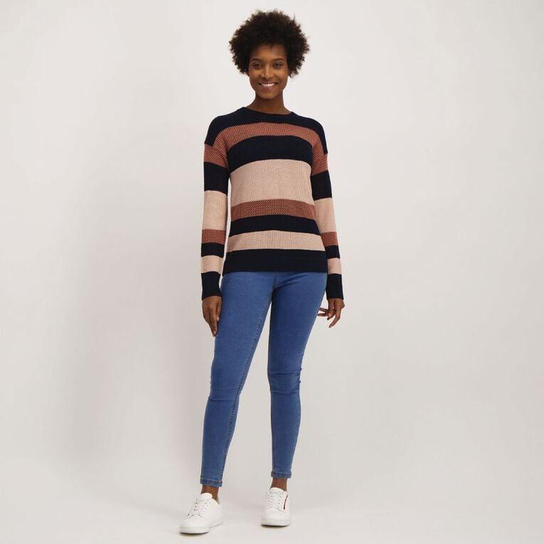 H&H Women's Eyelet Knit, Multi-Coloured, hi-res image number null