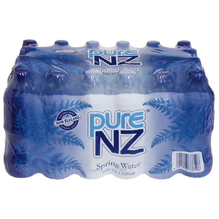 Pure NZ Spring Water 600ml Blue 24 Pack, , hi-res