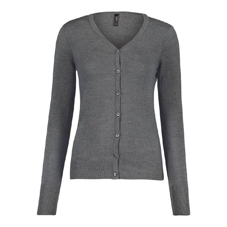 H&H Women's Button Through Cardigan, Blue Dark DARK SLATE, hi-res