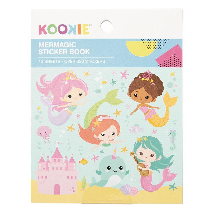 Kookie Mini Sticker Book 12 Sheets Mermagic, , hi-res