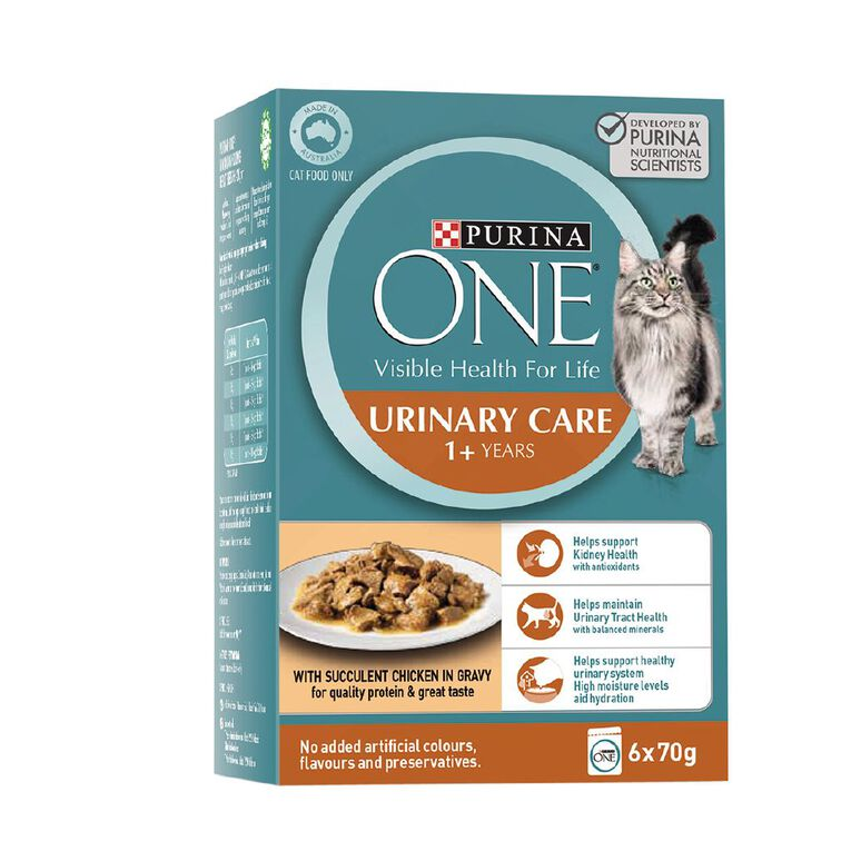 Purina ONE Cat Urinary Care Formula with Chicken MP (6x70g), , hi-res