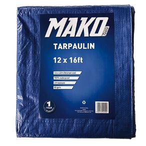 Mako Tarpaulin 80gsm 12ft x 16ft Blue