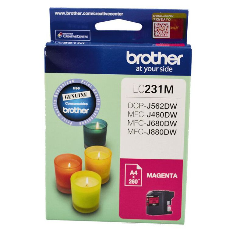 Brother Ink LC231 Magenta (260 Pages), , hi-res