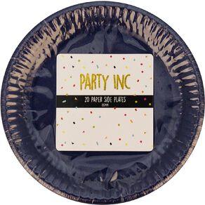 Party Inc Paper Side Plates 18cm Royal Blue 20 Pack