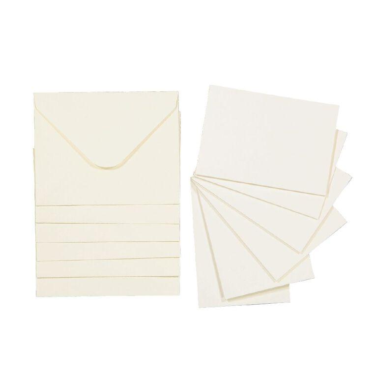 Uniti Mini Cards & Envelopes Ivory 6 Pack, , hi-res