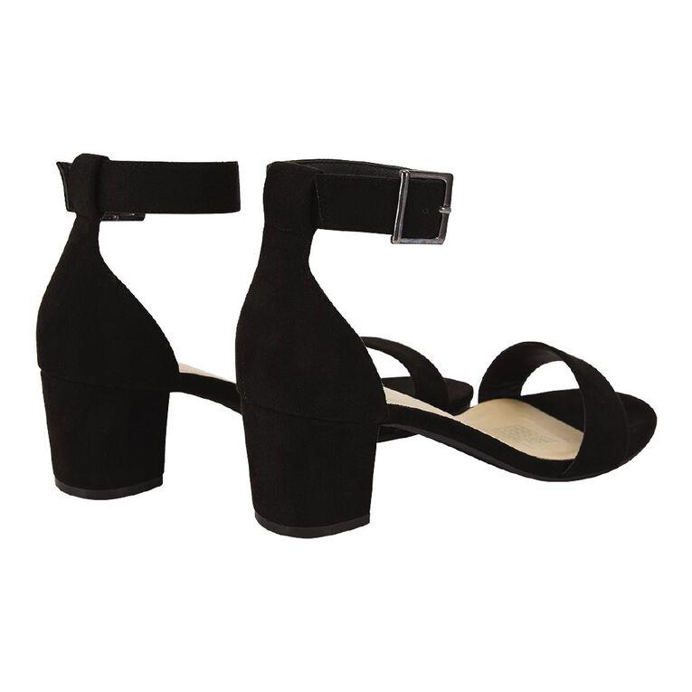 H&H Open Toe Sandals, Black, hi-res