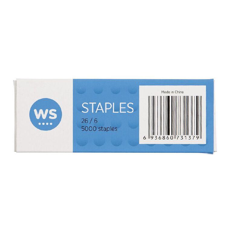 WS Staples 26/6 5000 Pack, , hi-res