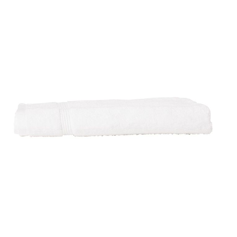 Living & Co Montreal Hand Towel Optic White 40cm x 65cm, White, hi-res image number null