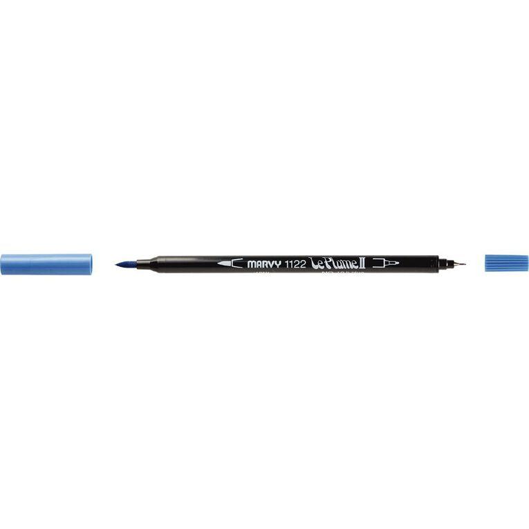MARVY Le Plume II Dual Tip Marker Light Blue, , hi-res